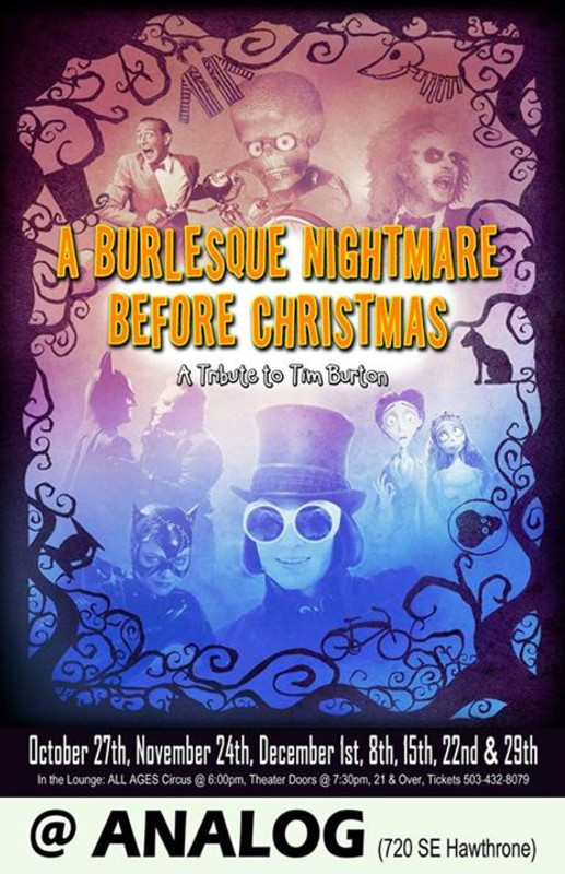 FlyersUp! Burlesque Nightmare Before Christmas at The Analog Cafe ...