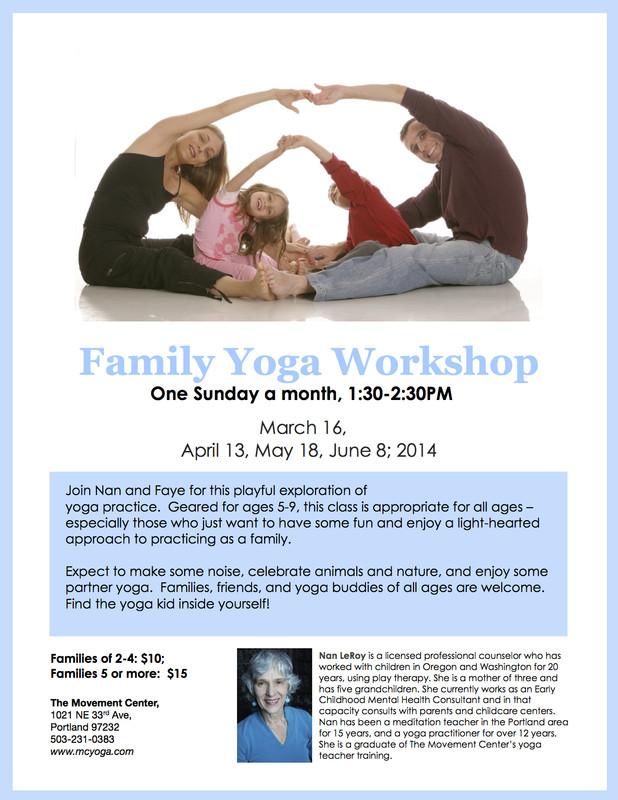 FlyersUp! Family Yoga Workshop at The Movement Center