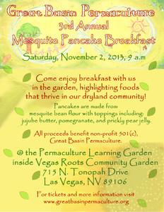 Third Annual Mesquite Pancake Breakfast