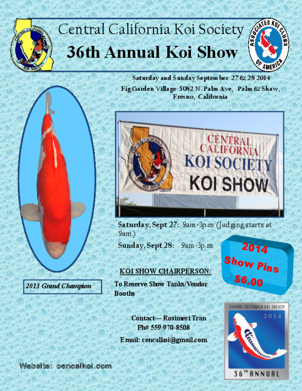 Flyersup Koi Show At Fig Garden Village Shopping Center