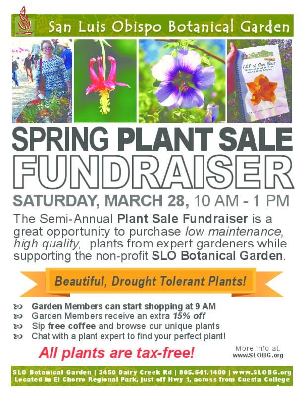 Spring Plant Sale Fundraiser At SLO Botanical Garden   San Luis Obispo, ...