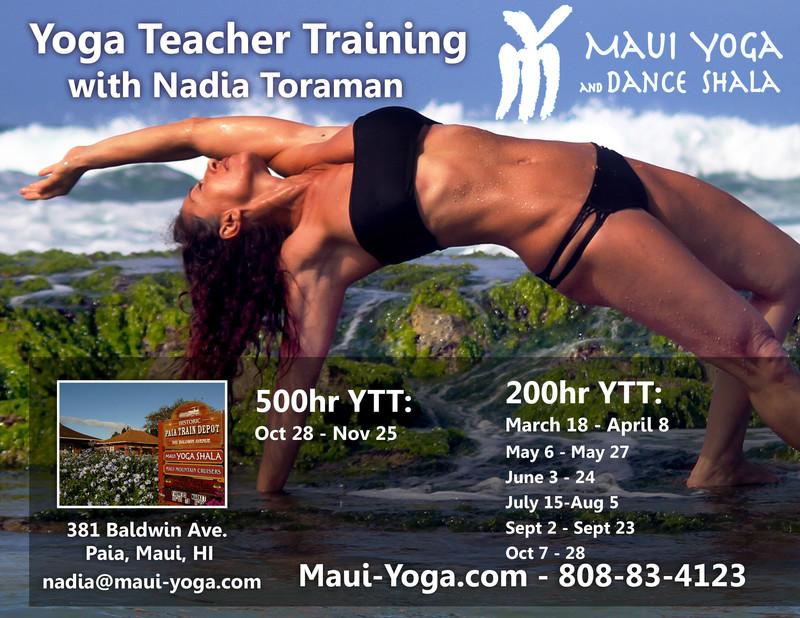 Flyersup Yoga Teacher Training With Nadia Toraman At Maui Yoga Shala Paia Maui Hi