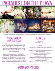 Nicaragua Yoga & Surfing Retreat!
