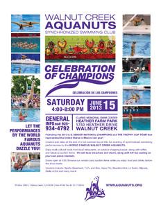 Aquanuts Celebration of Champions