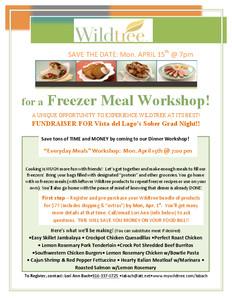 Folsom Freezer Meal Workshop
