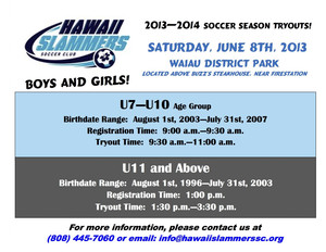 Youth Soccer Tryouts