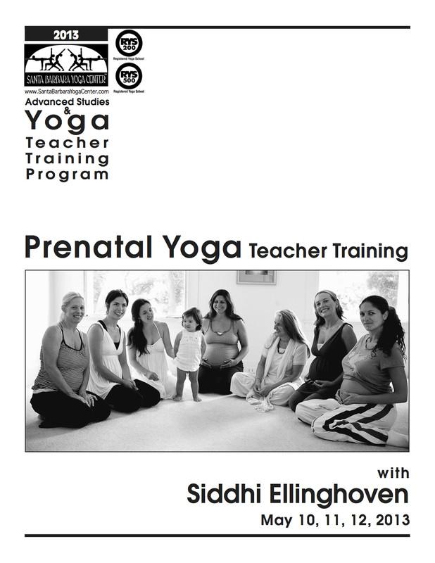 FlyersUp! Prenatal Yoga Teacher Training at Santa Barbara ...
