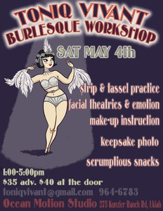 Toniq Vivant Burlesque Workshop
