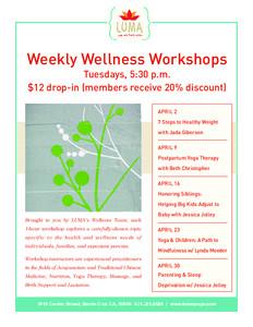 Relieve & Rejunvenate Wellness Workshops