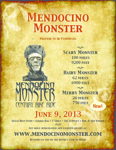 Mendocino Monster Century Bike Ride