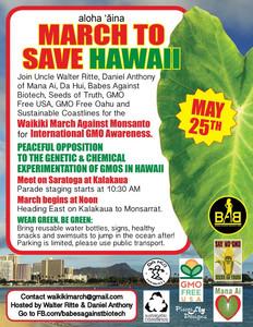 March Against Monsanto Waikiki