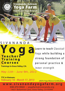 Sivanada Yoga Teachers Training Courses