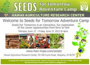 Seeds for Tomorrow Adventure Camp