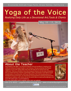 Yoga of the Voice
