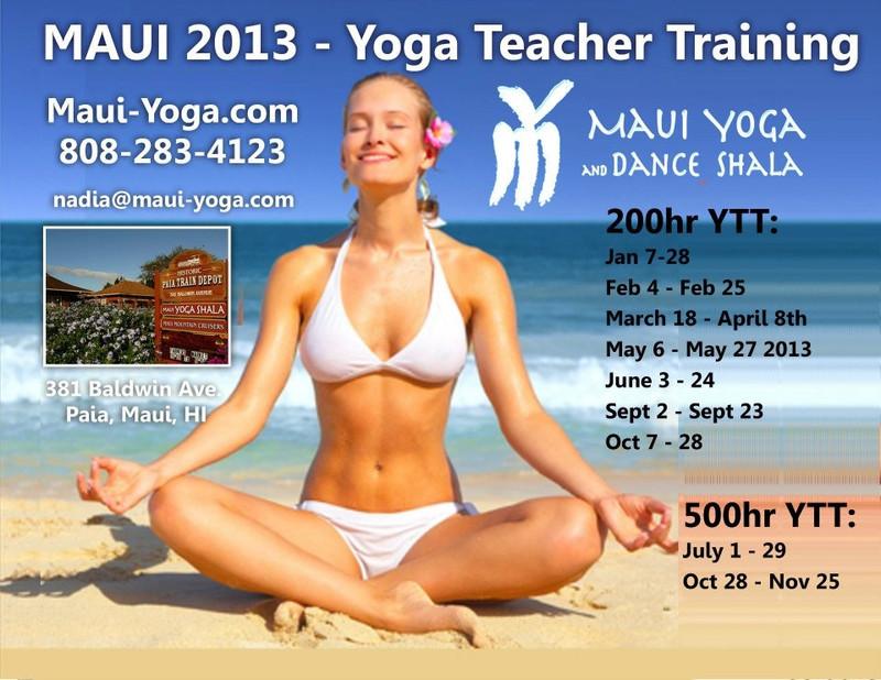 Flyersup Yoga Teacher Training At Maui Yoga Shala Paia Maui Hi