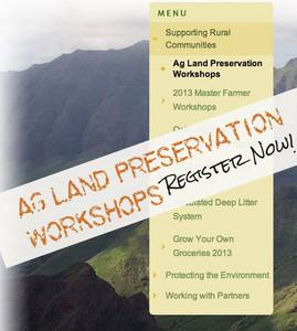 Ag Land Preservation Workshops