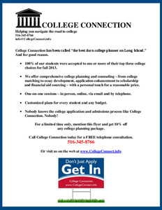 College Connection Admissions Coaching