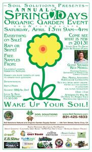 Spring Days Organic Garden Event